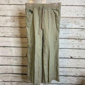 London Jean Green Linen Pants size XS